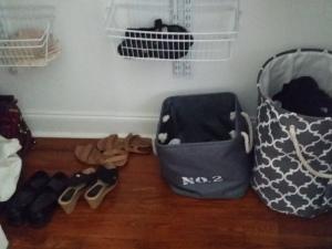 Dat closet floor.